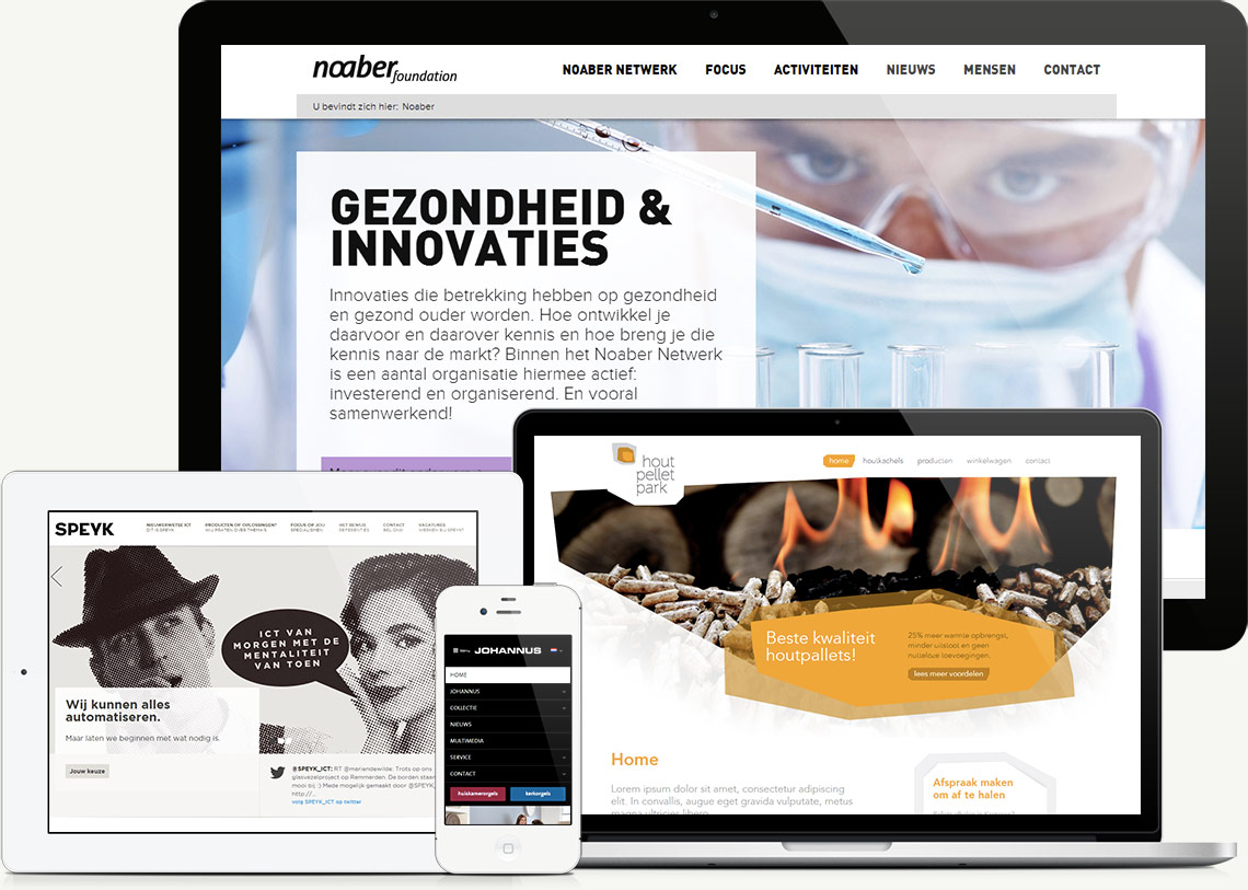 Front-end development van diverse websites