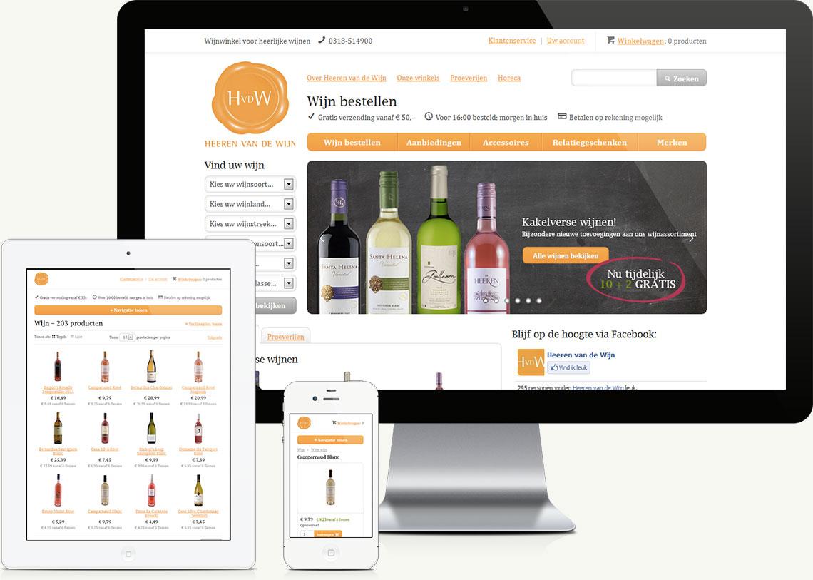 Heeren van de Wijn website