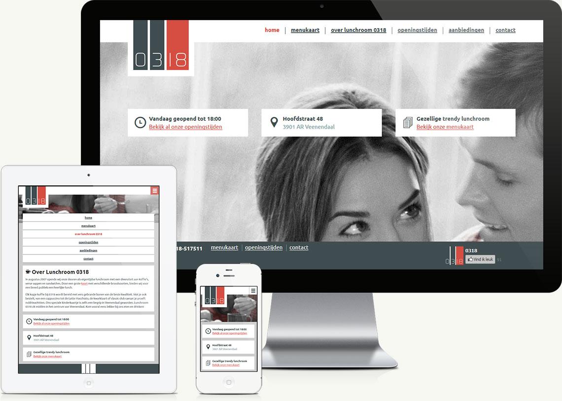 Website design voor Lunchroom in Veenendaal