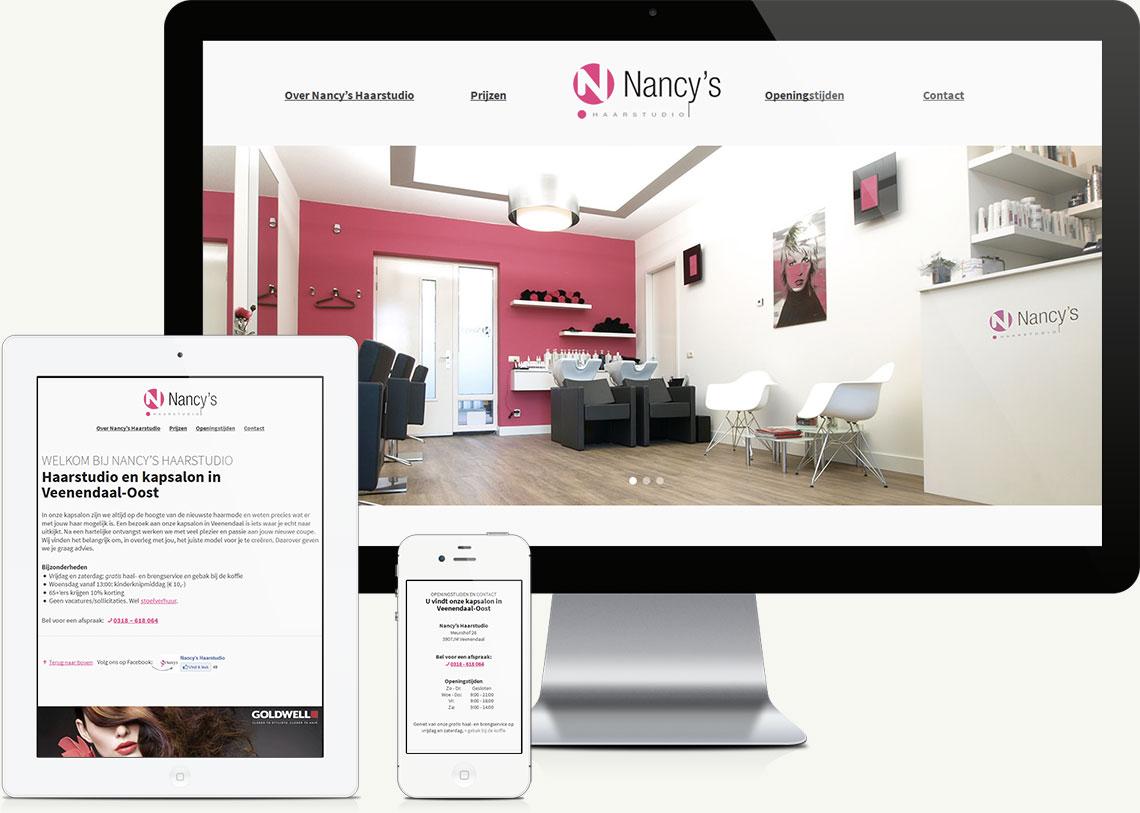 Website design voor haarstudio en kapsalon in Veenendaal-Oost