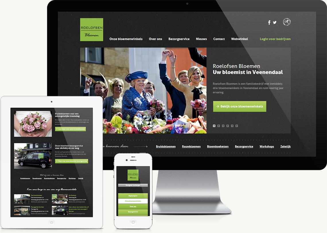Roelofsen Bloemen responsive website ontwikkeling