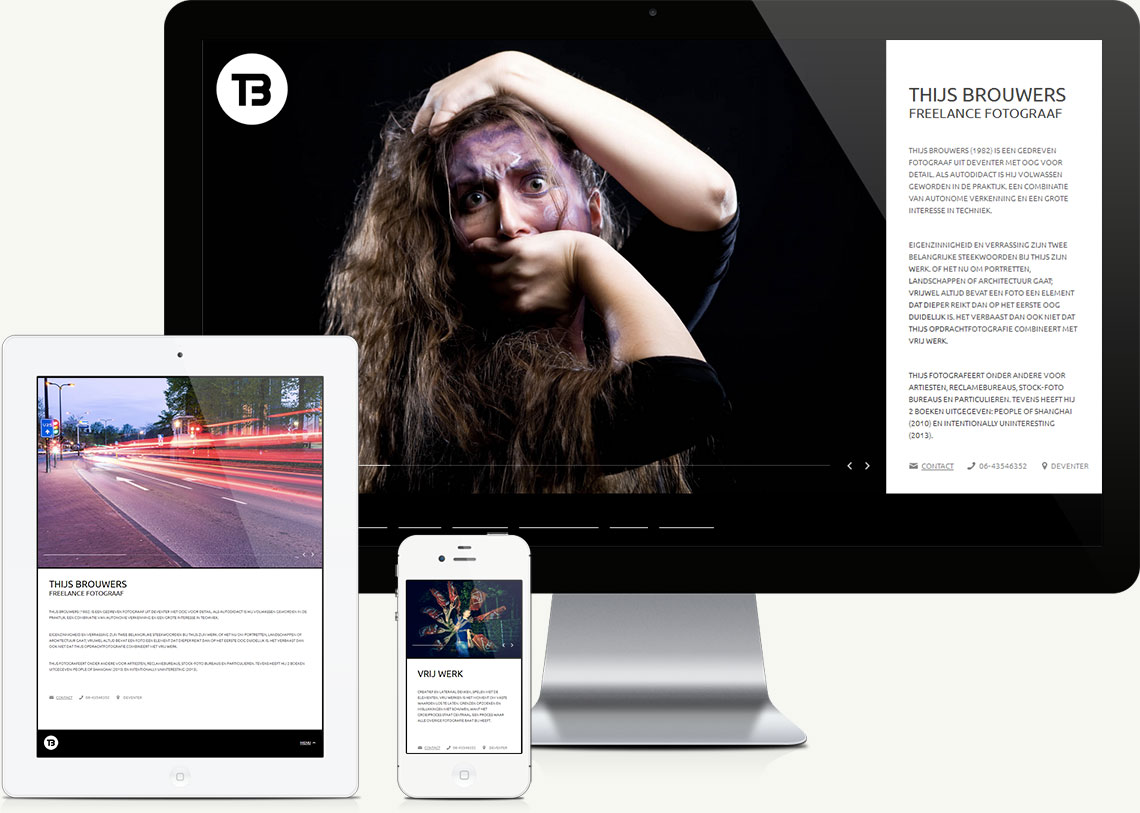 Ontwerp en ontwikkeling van portfoliowebsite voor fotografie